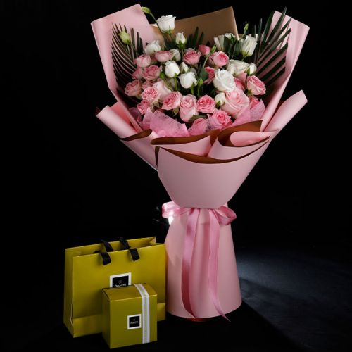 20 Spray Roses with Patchi 250 grams