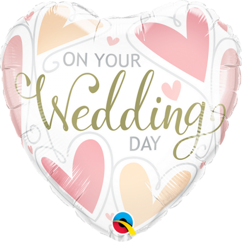 On Your Wedding Day Hearts Balloon