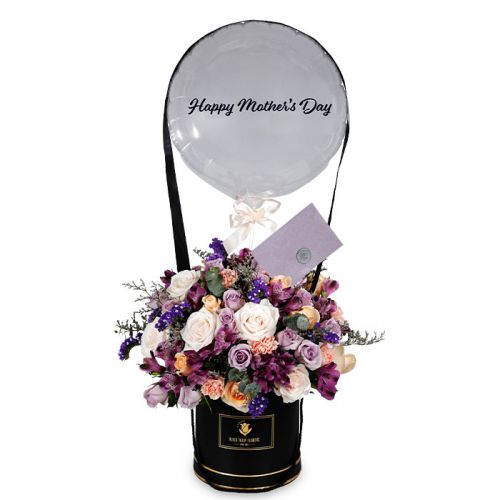 Mother's Day Purple Flower Box