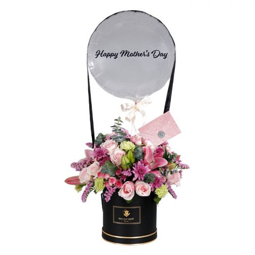 Mother's Day Pink Flower Box
