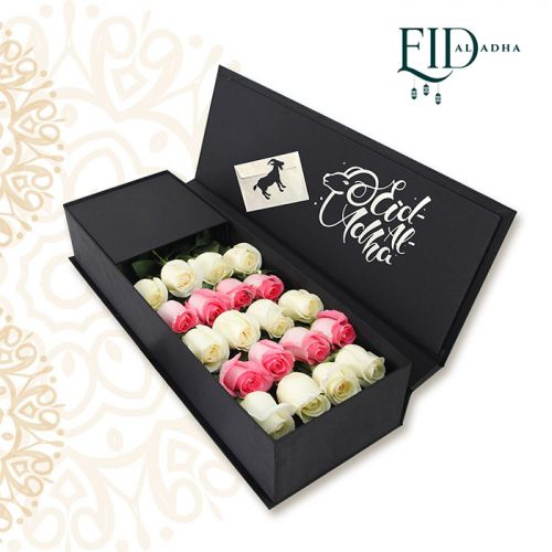 White & Pink Roses for EID
