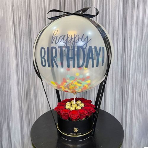 Hot Air Inspired Balloon with Red Roses