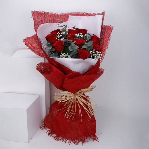 BUNCH OF 10 RED ROSE