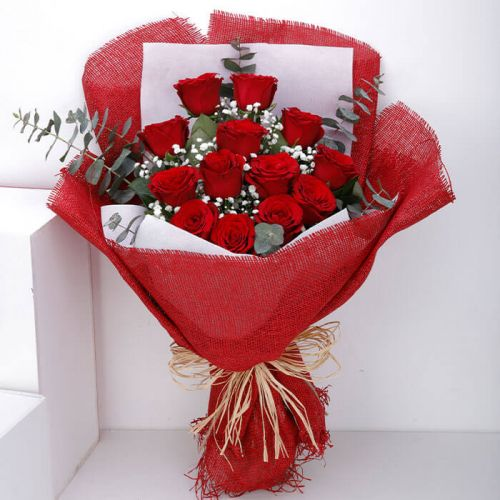 BUNCH OF 13 RED ROSE