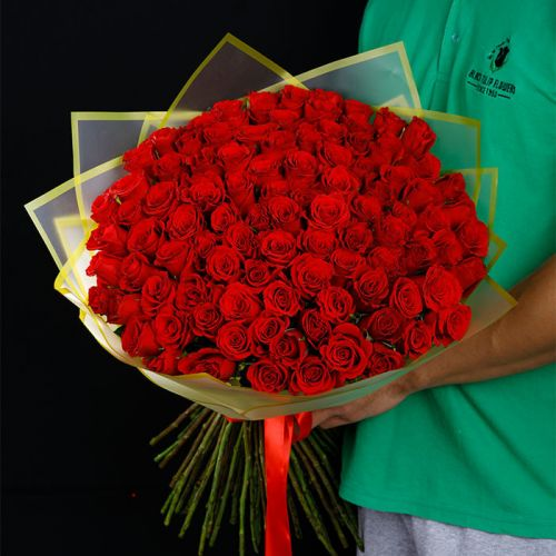101 red roses