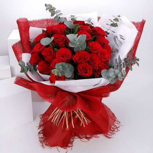 BUNCH OF 30 RED ROSE