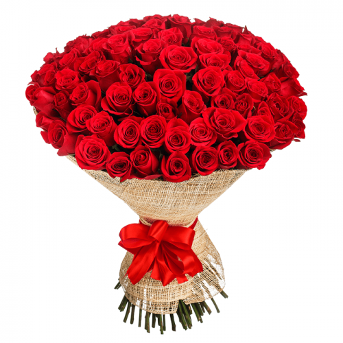 Bouquet of 50 premium red roses
