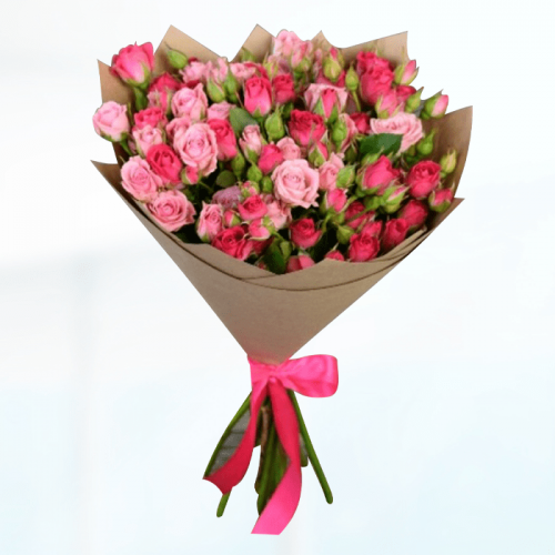 Bouquet of Mix Pink Spray Roses