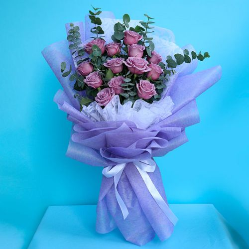 Purple Rose Bouquet for all occasion.