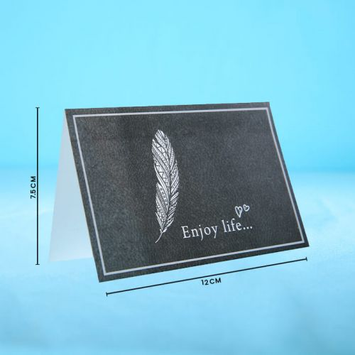 Enjoy Life - Message Card for greetings.