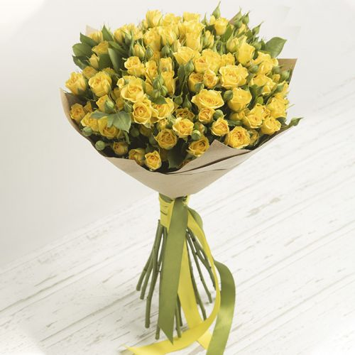 Enlightening Yellow Spray Roses