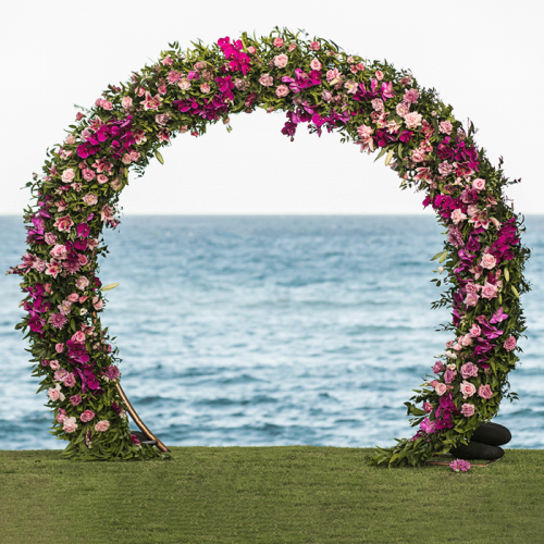 Floral Arch-Dark & Light Pink