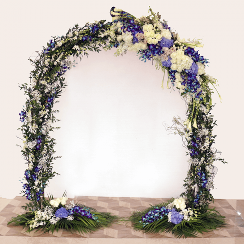 Floral Arch White & Blue