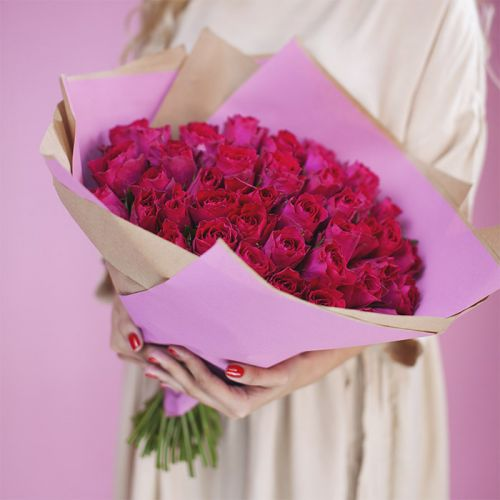 Pink Rose Bouquet for New Born Baby Girl, Romantic Couples, Proposals, Sharing the Love.