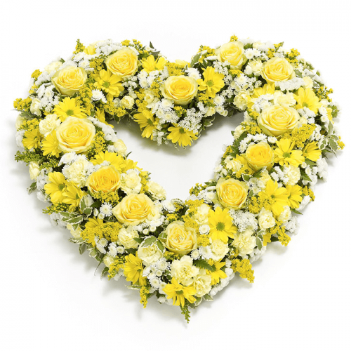 Heart Shape Yellow Flowers