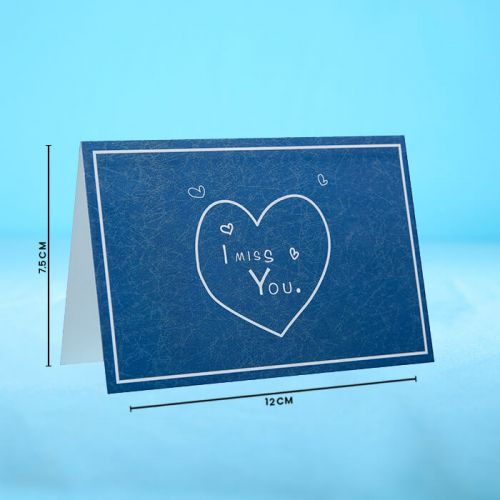 I Miss You - Message Card