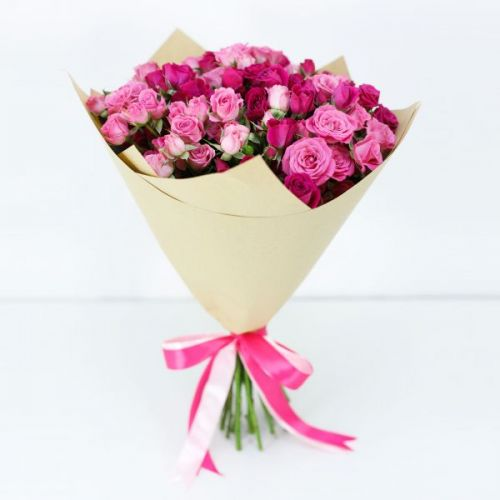 10 STEM PINK SPRAY ROSES BOUQUET