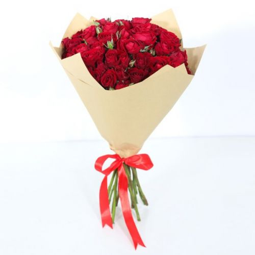 10 STEM RED SPRAY ROSES BOUQUET