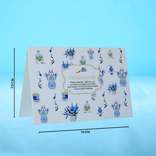 Lavender Story - Message Card