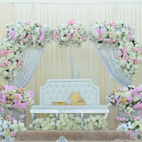 Luxury Wedding Backdrop Pink and White