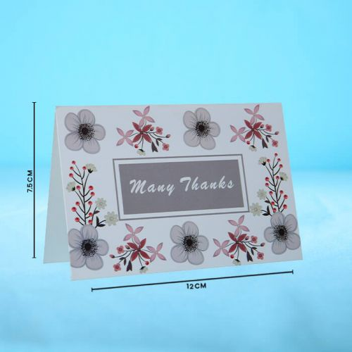 Many Thanks - Message Card