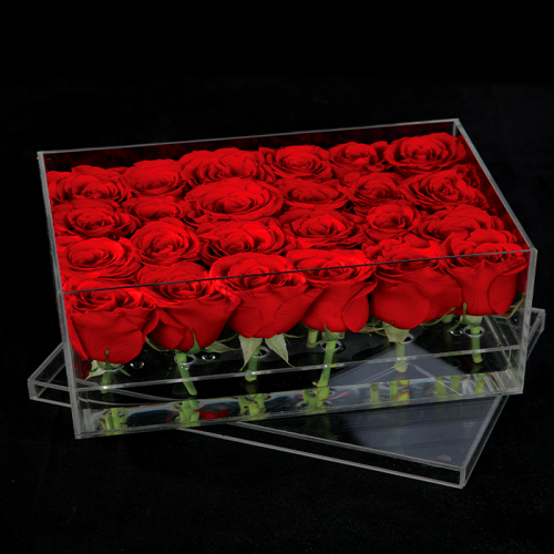 24 Red Roses In An Acrylic Box