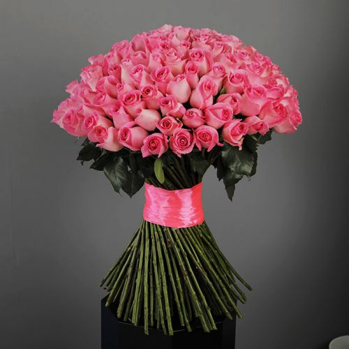 Peculiar Pink Roses Bunch