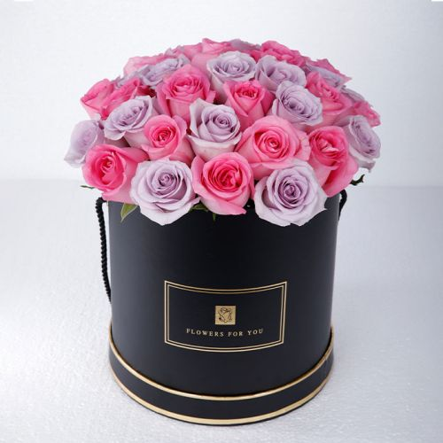 Pretty Pink and Purple Rose Box