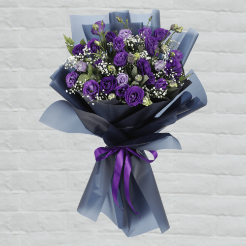 Purple Lisianthus bouquet