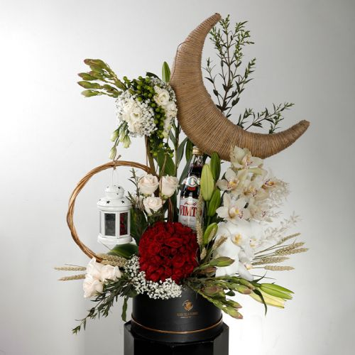 Ramadan Crescent with Special mix flowers