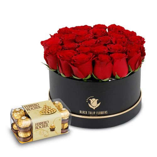 Red Rose in a box Combo