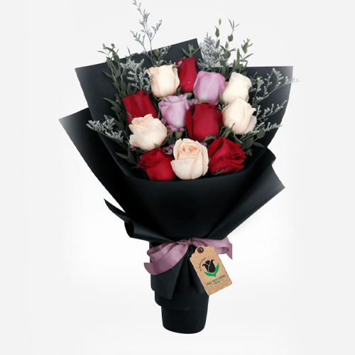 ROSES DELIGHT OVERLOAD Bouquet Delivery Dubai
