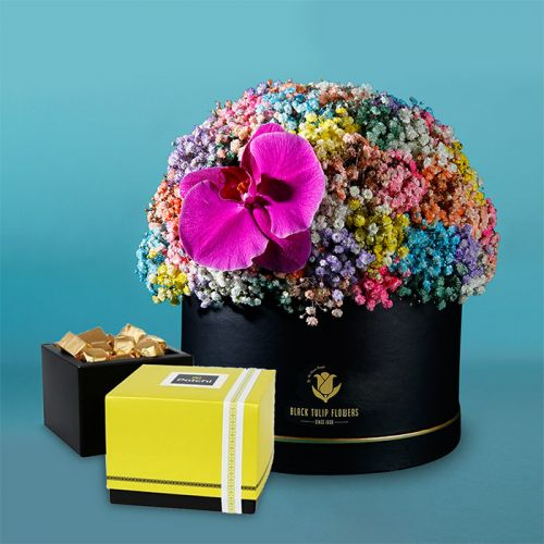 Vibrant Flower Box With Patchi