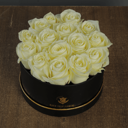 White Roses in Black Box