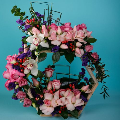 Wooden Flower Arrangement for any occasion.