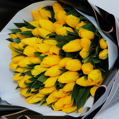 Yellow Tulips Handbouquet